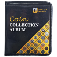 Mintage World Coin Collection Album Cum Reference Book 160 Pockets