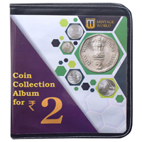 Mintage World Coin Collection Album Cum Reference Book 2 Rupees 160 Coin Flips