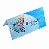 Nicaragua 1 centavo Description Card with original Banknote