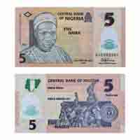 Nigeria Currency Note 5 Naira