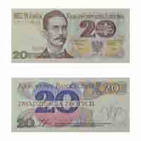 Poland Currency Note 20 Zloty