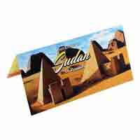 Sudan 10 Pound Description Card with Original Banknote