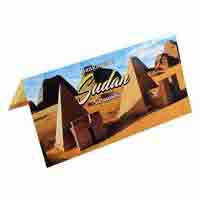 Sudan 5 Pound Description Card with Original Banknote