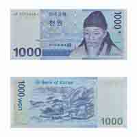 South Korea Currency Note 1000 won