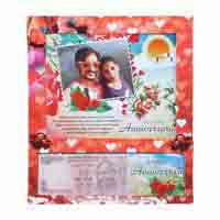 Table Photo Frame of Your Picture & Currency Note with Anniversary Date