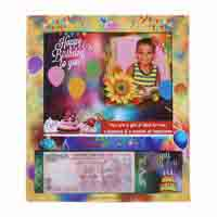 Table Photo Frame with Your Personal Birthday Currency Note and Picture