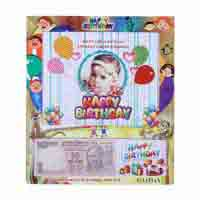 Table Photo Frame with Your Picture and Currency Note of Birth Date