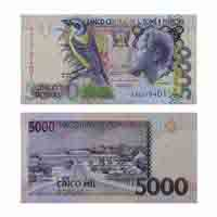 Sao Tome and Principe 5000 Dobras Note