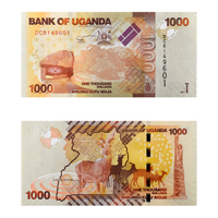Ugandan Currency Note 1000 shilling
