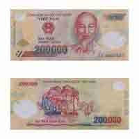 Vietnam Currency Note 200,000 dong