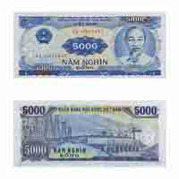 Vietnam Currency Note 5000 dong