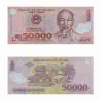 Vietnam Currency Note 50000 dong