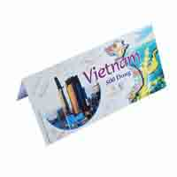 Vietnam 500 Dong Description Card with Original Banknote
