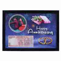 Wall Photo Frame of Your Picture & Currency Note with Anniversary Date