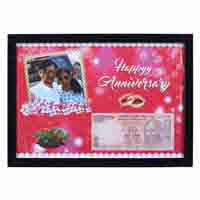 Wall Photo Frame with Personalized Anniversary Date Currency Note and Picture