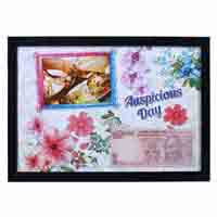 Wall Photo Frame with Personalized Auspicious Date Currency Note and Picture