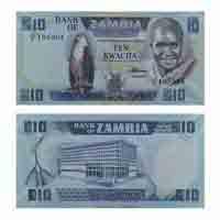 Zambia 10 Kwacha Note