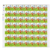 Fifa World Cup Brazil  Kicking Full Stamp Sheet 5Rs - 2014