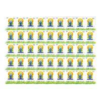 International Day Of Yoga Full Stamp Sheet 5Rs - 2015