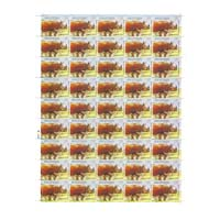 3rd India-Africa Forum Summit Indian Rhinoceros Full Stamp Sheet 5Rs - 2015