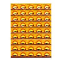 Surya Namaskar -  Ashtanga Namaskara Full Stamp Sheet 5Rs - 2016