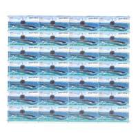 INS Kalvari Full Stamp Sheet 5Rs - 2017