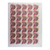 Pochampally Ikat Full Stamp Sheet 5Rs - 2018