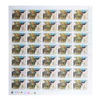 Ahimsa Parmo Dharma Half Mahatma Gandhi Full Stamp Sheet 15Rs - 2019