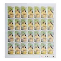 Indian Fashion Pathare Prabhu Full Stamp Sheet 5Rs - 2019