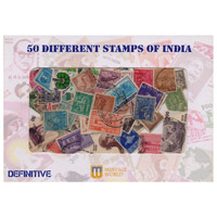 50 Different Definitive Stamps of India