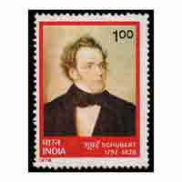 Franz peter schubert Stamp
