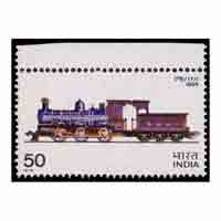 Indian Locomotives - Rajputana malwa railway class F/1 steam locomotive Stamp