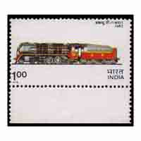 Indian Locomotives - Southern Railway Class WP / 1 steam locomotive Stamp