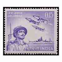 Jai Jawan - Indian Armed Forces In 65 War Stamp