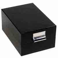 Lighthouse Archive box LOGIK C6 - Inner Size - 170 x 120mm - Black