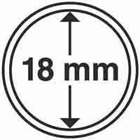 Lighthouse Coin Capsules inner diameter 18mm - 100 per pack