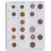 Lighthouse Coin Sheets OPTIMA for 24 Coins upto 34mm Clear