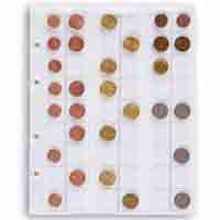 Lighthouse Coins Sheets OPTIMA - for 54 coins upto 20mm Clear