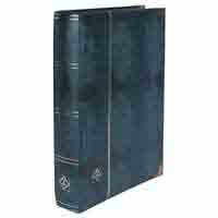 Lighthouse Deluxe Stamp Stockbook DIN A4 - 64 Black Pages - Padded Cover - Crocodile Leather Look - Green