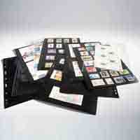 Lighthouse Plastic Pockets VARIO - 2 way division - Vertically Divided - Black Film