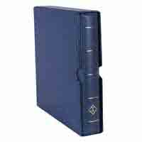 Lighthouse  Ringbinder OPTIMA F - incl. Slipcase - Blue