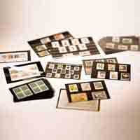 Lighthouse Standard Cards PVC 148 x 105mm - 3 Clear Strips with Cover Sheet - Black card - 100 per pack