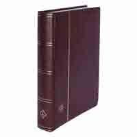 Lighthouse Stockbook A4 - 64 White pages - Padded Cover - Red