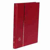 Lighthouse Stockbook DIN A5 - 16 White pages - Non-padded cover - Red