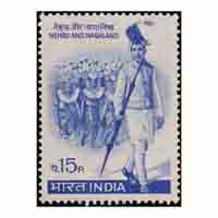 Nehru And Nagaland Stamp