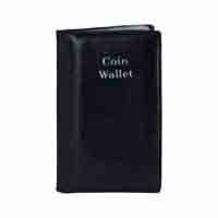 Pocket Coin Wallet - for 12 Coins - Black