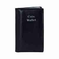 Pocket Coin Wallet - for 12 Coins - Black