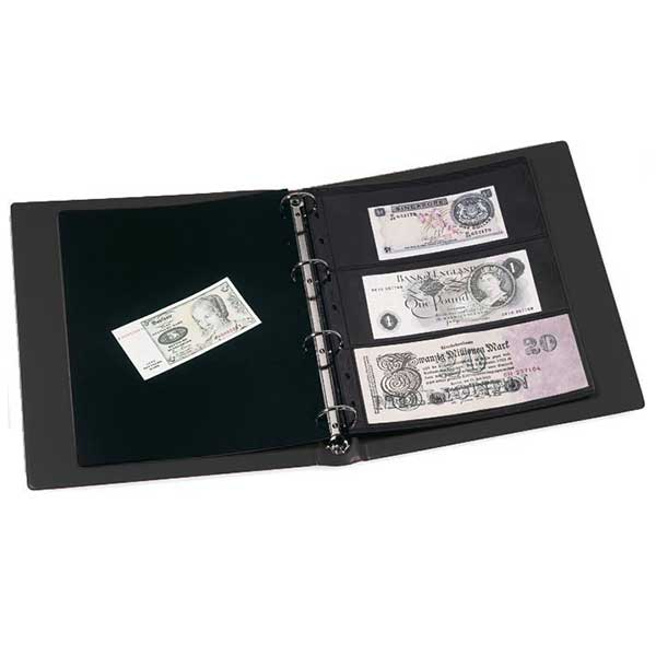 Lighthouse Banknote Album Vario - incl. 10 pockets - Black