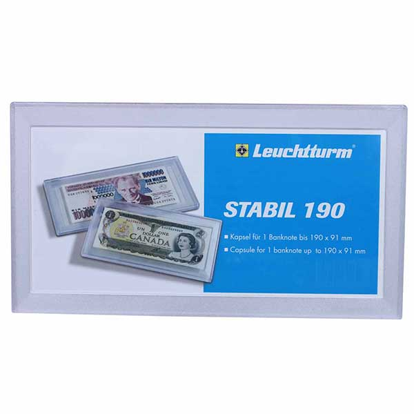 Lighthouse Capsules for Banknotes STABIL - 190 - inner size 190 x 91mm