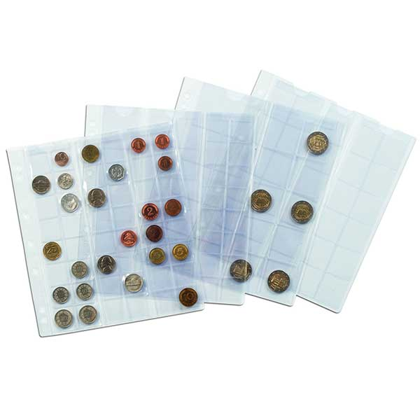 Lighthouse Coin Sheets NUMIS - 4 pockets upto 66mm